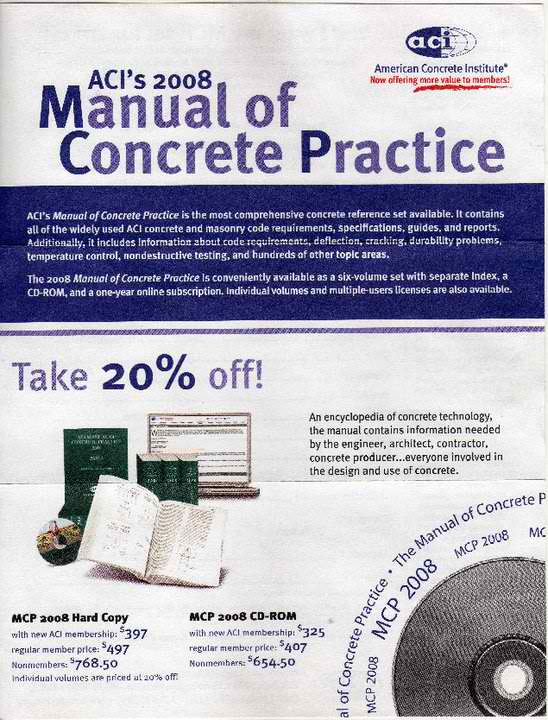 January 2012 engineers outlook aci 2008 manual of concrete practice fandeluxe Choice Image