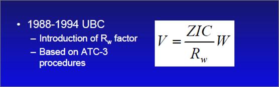 1988-1994 UBC Formula for Base Shear