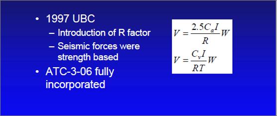 1997 UBC Formula for Base Shear