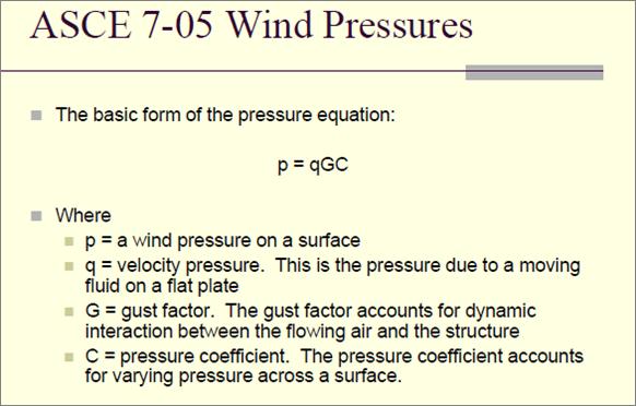 ASCE 7-05 Wind Pressures