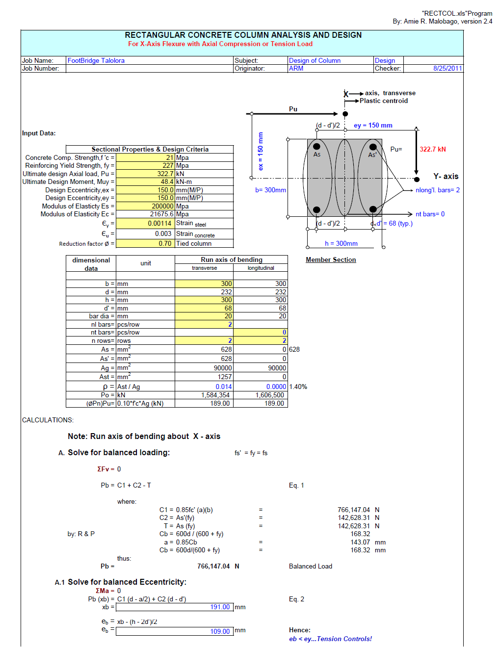 Concrete Retaining Wall Design Spreadsheet : Design of concrete structures aci temblor en